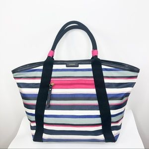 Fossil   Large Leather Striped Tote